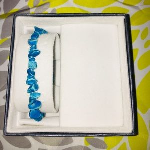 Aqua Blue Stone Bracelet